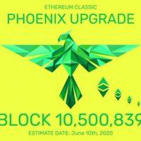 仮想通貨イーサリアムクラシック、大型アップグレード「Phoenix」の実装スケジュールが決定